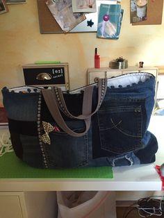 Tasche aus Jeansflicken