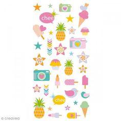 Stickers Puffies 13,5 x 8 cm - Verano - 35 uds - Fotografía n°1