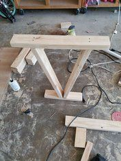 Table Legs From Reclaimed 2x4 With Images Wood Table Legs Diy