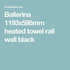 Ballerina 1193x598mm heated towel rail wall black