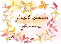 fall leaves frame @creativework247