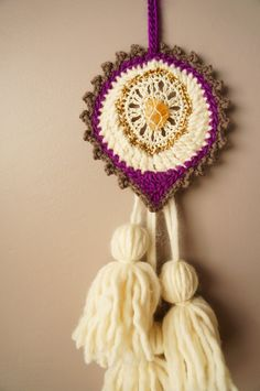 Woven Wall Hanging / Talisman Weaving / Boho Home by LemonCucullu