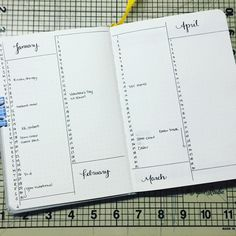 """Day 6: forward planning. I tried this system in my last #bulletjournal with three months to a page. I liked the concept a lot but needed more room. So…"""