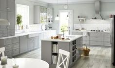 First Look: IKEA Announces Brand New Modular Kitchen System via @domainehome. The grey is so velvety!