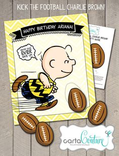 DIY Personalized Printable The Peanuts Movie Kick by CartaCouture