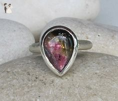 Tourmaline Engagement Ring- Pear Shape Engagement Ring- Unique Engagement Ring- Alternative Engagement Ring- October Birthstone Ring - Wedding and engagement rings (*Amazon Partner-Link)