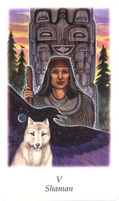 V. The Hierophant (Shaman) - Vision Quest Tarot by Gayan Sylvie Winter, Jo Dose
