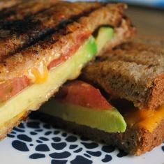 Tomato And Avocado Grilled Cheese...perfect!  Made this tonight...loved it! A great compliment to tomato soup.