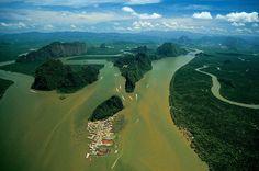 Poblado de Koh Panyi, Tailandia.