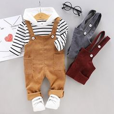 Baby Girl Pants – Baby and Toddler Clothing and Accesories Toddler Boy Fashion, Toddler Boy Outfits, Toddler Boys, Kids Outfits, Kids Fashion, Baby Boys, Cute Baby Boy Outfits, Boys And Girls Clothes, Cute Baby Clothes