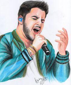 Desenho do cantor Cristiano Araújo feito por mim. :)