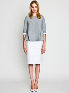 Flare Top with Patent Leather Tight Skirt / LE CIEL BLEU