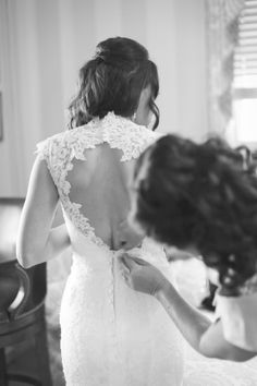Lace Wedding Dress - Open Back - MB Photography - wedding photos -- Melissa barrick