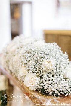 Photo Gallery - Decorazioni Floreali Church Wedding Decorations, Wedding Table Centerpieces, Flower Centerpieces, Table Decorations, Floral Decorations, Rustic Wedding Gowns, Wedding Bouquets, Wedding Flowers, Blue White Weddings