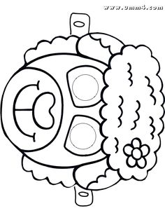 maski iz bumagi domashnie zhivotnye raskraski 5 Маски из бумаги