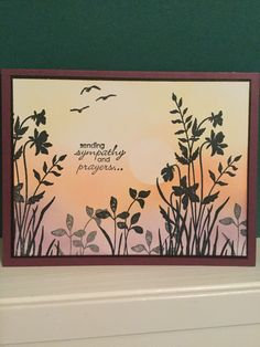 Stampin' up just believe,high tide & petite pairs stamp sets. Card made by Debbie Reed
