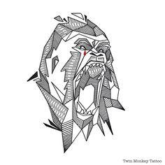 may u rest in peace #harambe #RIP #gorrila #silverback #cincinnatizoo #iblackwork #tattoo #design #line #blackart #blackwork #black #tattooart #art #doodle #sketch