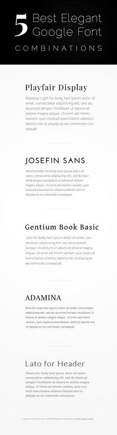 Bingung bikin kombinasi font elegan buat judul dan body text? cek ini deh. 100% google font