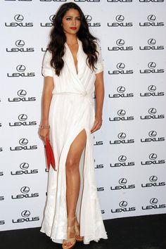 Camila Alves in white dress