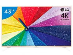 "Smart TV LED 43"" 4K LG 43UF6900 Ultra HD - Conversor Integrado 3 HDMI 1 USB Wi-Fi"