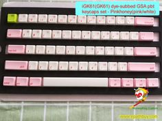 Custom mechanical keyboard keycaps sets for 61 key keyboard customized pbt dye subbed keycaps, for diy keyboard. Diy Mechanical Keyboard, Key Caps, The Black Keys, Bluetooth Keyboard, Pc Cases, Online Shopping Stores, Diy Kits, Pink White, Legends