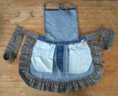 Tuunausta ja tekeleitä: Ohjeet farkkujen totaalikierrätykseen, osa 3 Overall Shorts, Apron, Overalls, Denim, Women, Crafts, Fashion, Moda, Women's