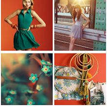 Mood Board: Red Orange and Teal