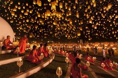 photograph, yi peng, night skies, festivals, national geographic, place, light, lantern festival, country