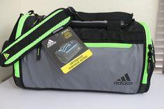 affed9feefc2 ADIDAS Climaproof Menace Duffel Gym bag Insulated Cooler pocket Grey Green