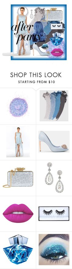 """""""After part"""" by nikitamerchant ❤ liked on Polyvore featuring The Gypsy Shrine, Gucci, Ted Baker, Sophie Hulme, Harry Winston, Lime Crime, Huda Beauty and Thierry Mugler"""