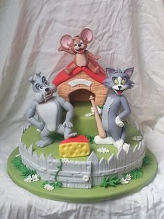 Tom, Jerry & Butch Cake
