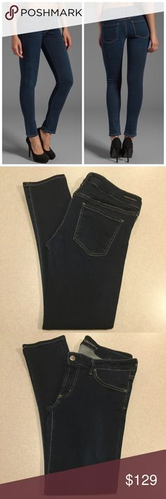 """Citizens Of Humanity Jeans 32X29 Racer In Starry! Citizens of humanity jeans Racer low rise ultra skinny in starry! SUPER HOT STYLE RIGHT NOW! Modeled picture is of exact style and wash Size 32 29 inch skinny inseam 17"""" across waist, 8"""" rise, 18"""" hips Amazing dark blue wash, extra stretch denim Style number 1443-315 Perfect condition, no flaws, only worn once Retails for $238.00 All of my items come from a smoke free, pet free home and are authenticity guaranteed! Please ask any questions…"""