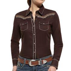 Ariat Women's Mahogany Long Sleeve Western Shirt