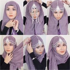 scarf & Hijab is the Islamic women wearing piece but now the trend of hijab also spread in western countrie. 10 Stylish Ways To Wears a Scarf & Hijab Hijab Musulman, Beau Hijab, Hijab Stile, Muslim Hijab, Muslim Dress, Hijab Chic, Hijab Dress, How To Wear Hijab, Ways To Wear A Scarf