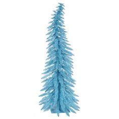 2.5' Pre-Lit Whimsical Sky Blue Spruce Artificial Christmas Tree - Blue Lights