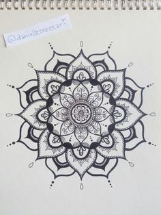 Black and white mandala - ink drawing