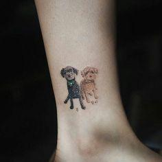 awesome Animal Tattoo Designs - Poodle Tattoo Design by Sol Art Small Dog Tattoos, Tattoos For Dog Lovers, Tiny Tattoos For Women, Wrist Tattoos For Guys, Tatoo Art, Body Art Tattoos, Cool Tattoos, Dachshund Tattoo, Chihuahua Tattoo