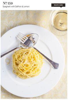 Spaghetti with Saffron & Lemon  {recipe}