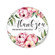 #flower - #Beautiful Floral Wedding Thank You Stickers