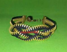 Pulsera con cremallera  tutorial for the knot bracelet