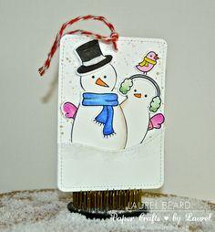 card christmas snowman snowmen Lawn Fawn Making Frost friends snowdrift landscape