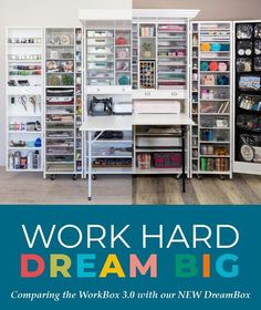 An In-Depth Comparison Of The Workbox 3 Vs The New Dreambox. Gain proficiency with All About What Makes This New Craft Storage Furniture Workspace Truly Dreamy For Your Craft Room Craft Storage Furniture, Fold Out Table, Do It Yourself Decorating, Jar Design, Room Paint Colors, Craft Organization, Organizing Ideas, New Crafts, Storage Spaces
