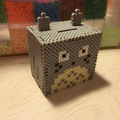 3D Totoro perler bead bank by Angela