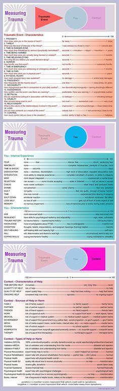 Measuring One's Unique Experience of Trauma – Measuring Trauma Graphic (more comprehensive version)