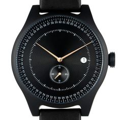 The Aluminium by Squarestreet has a slim 42mm brushed aluminium case that houses a Swiss Ronda movement. #watches #design