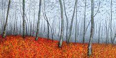 Floresta Vermelha - Acrílica s/tela - 140 x 70 - 2015