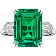 A Columbian emerald set as a ring by Van Cleef & Arpels.