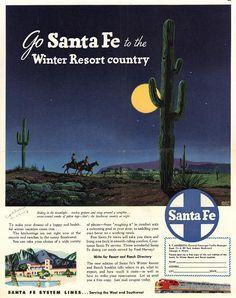 Vintage Santa Fe System Lines - 1948
