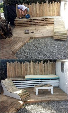 Use Pallet Wood Projects to Create Unique Home Decor Items – Hobby Is My Life Wooden Pallet Furniture, Wooden Pallets, Diy Furniture, Pallet Wood, Pallet Chair, Pallet Boards, Furniture Stores, Furniture Makeover, Office Furniture