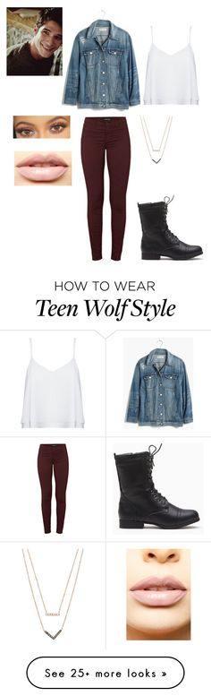 """""""Scott"""" by audrey-luc on Polyvore featuring Madewell, Alice + Olivia, J Brand, LASplash and Michael Kors"""